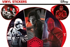 STAR WARS THE LAST JEDI EMPIRE VINYL STICKERS